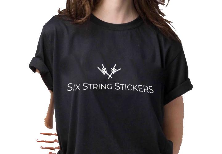 Six String Stickers Classic Logo T-shirt