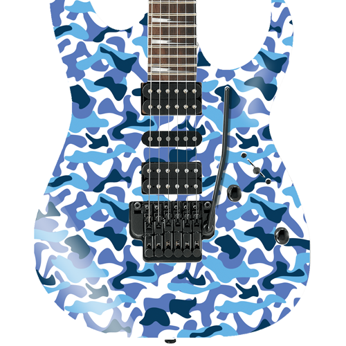 Blue Camouflage Self Adhesive Guitar Cover