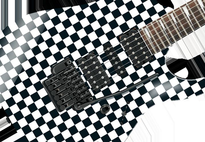 Check Square Self Adhesive Guitar Cover