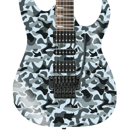 Grey Camouflage Self Adhesive Guitar Cover
