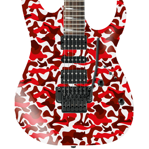 Red Camouflage Self Adhesive Guitar Cover