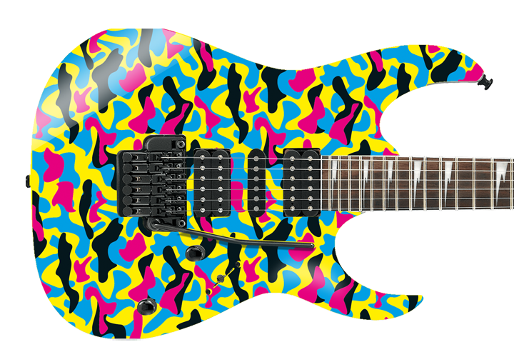 Vivid Camouflage Guitar Cover
