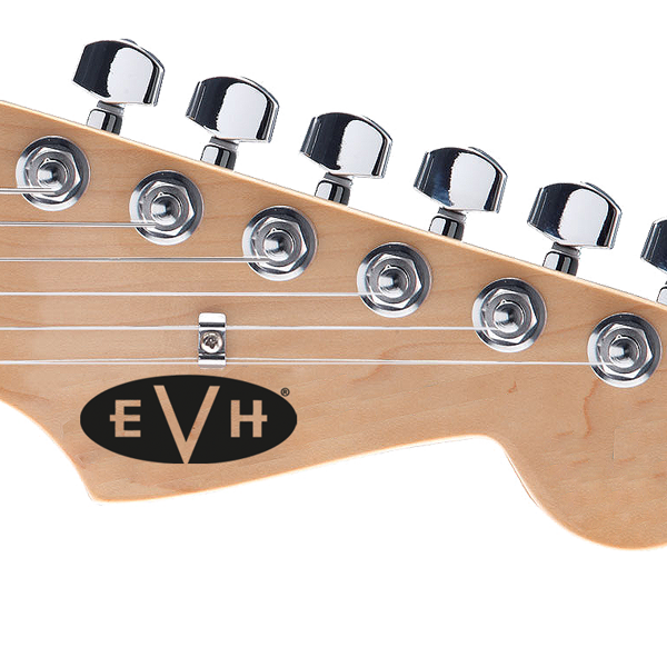 EVH Guitar Headstock Decal Solid Black