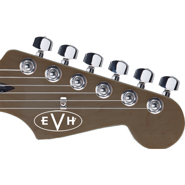 EVH Guitar Headstock Decal White Outline