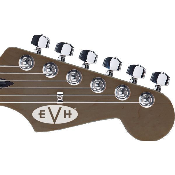 EVH Guitar Headstock Decal Solid White