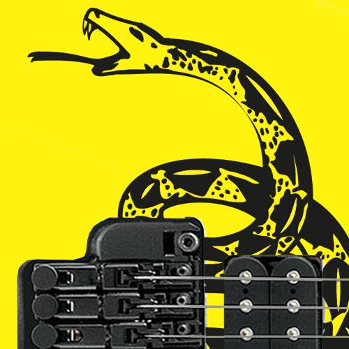 Gadsden Flag - Don't Tread On Me Guitar Decal Set