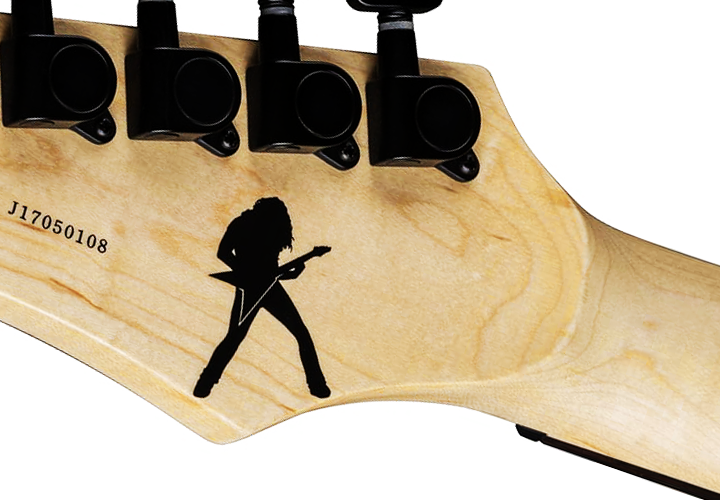 Dave Mustaine Silhouette Headstock Decal