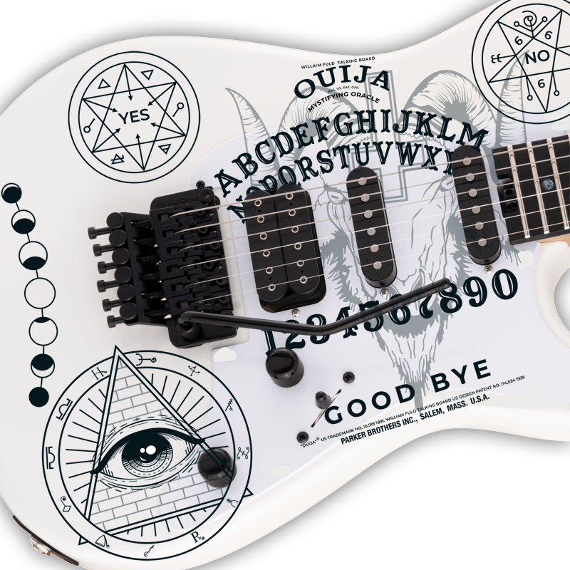 Ouija Board Guitar Decal Set