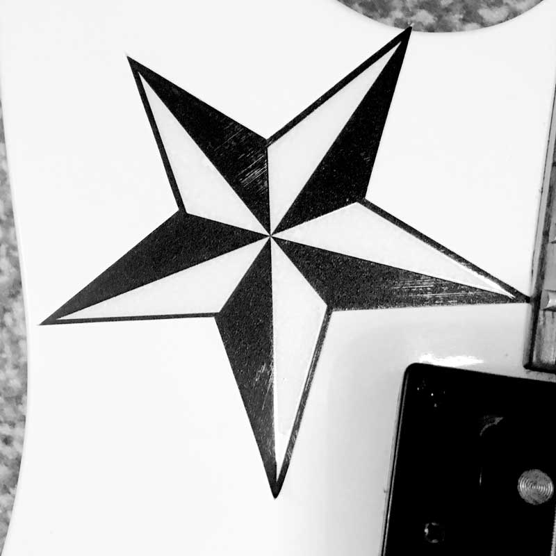 Nautical Star Guitar Sticker