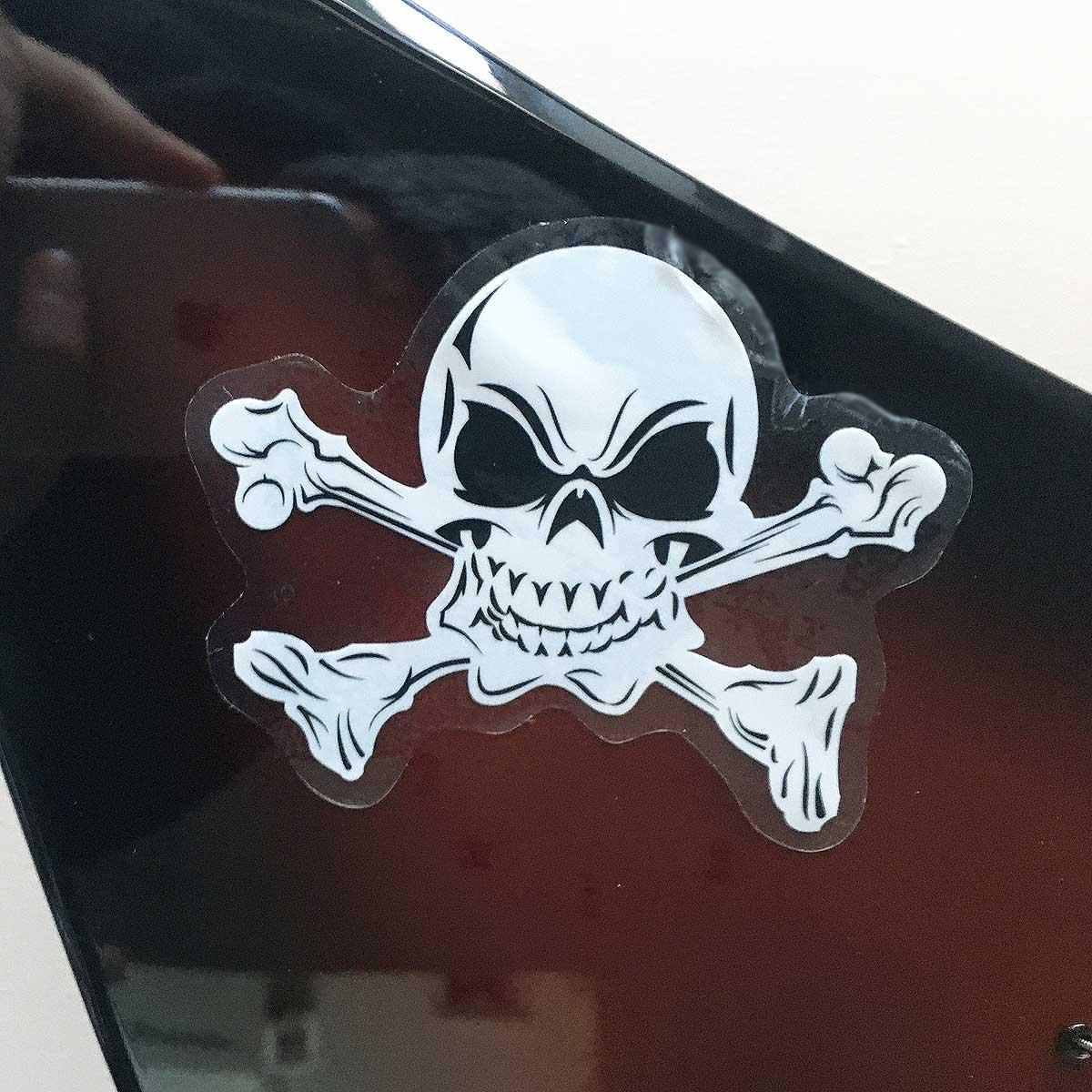 Skull and Crossbones Guitar Sticker