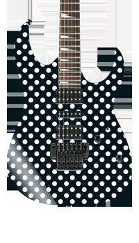 Randy Rhoads Polka Dot Self Adhesive Guitar Cover