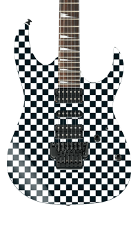 Checked Square Self Adhesive Guitar Cover