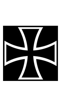 Iron Cross Guitar Sticker