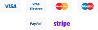 We Accept All Major Credit Cards and {ayPal Payments