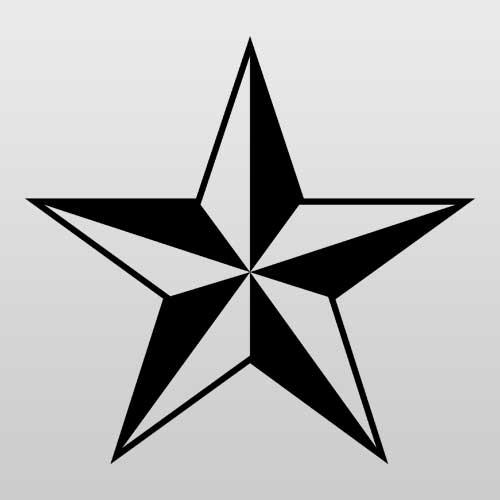Nautical Star Punk Icon Guitar and Bass Sticker