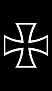 Iron Cross Self Adhesive Guitar Sticker