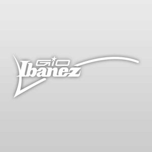 Ibanez GIO Guitars Luthier Headstock Logo Decal White