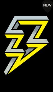 Lightening Bolt Self Adhesive Guitar and Guitar Case Sticker