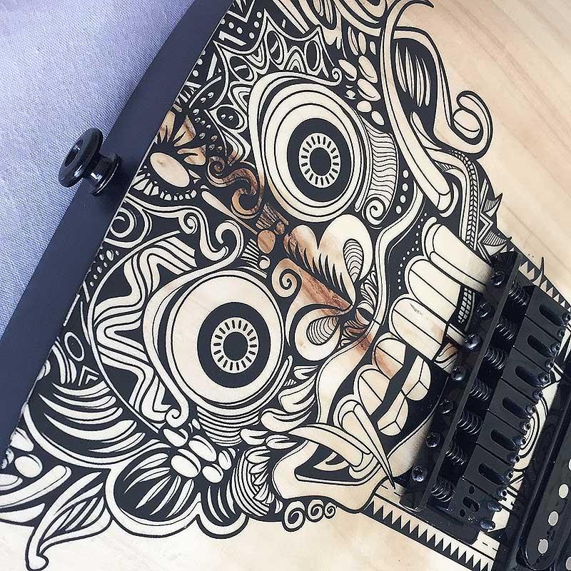 Water Slide Guitar Decals