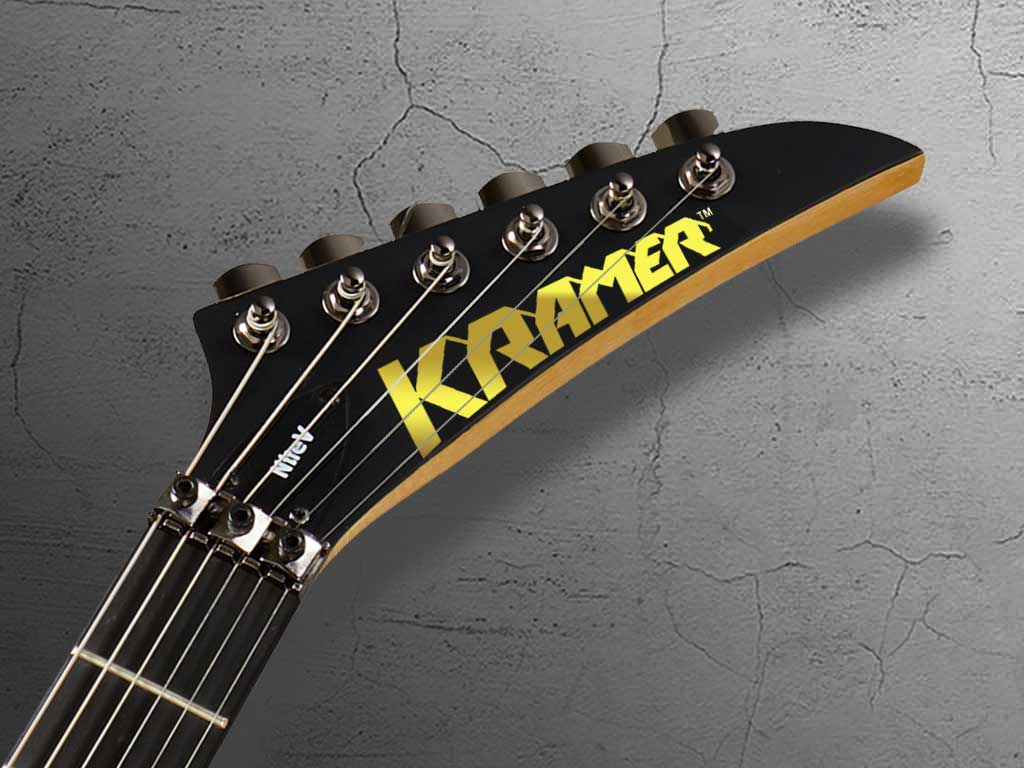 Metallic Guitar Headstock Logos