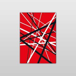 Eddie Van Halen Frankinstrat Self Adhesive Vinyl Guitar Covers from Six String Stickers